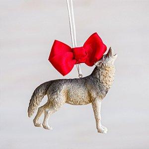Enfeite de Natal Lobo