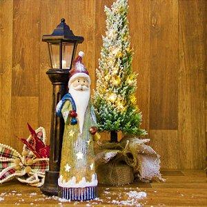 Adorno de Luz com Papai Noel
