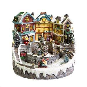 Vila de Natal com Leds e Música