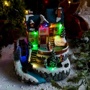 Vila de Natal com Chalé do Papai Noel