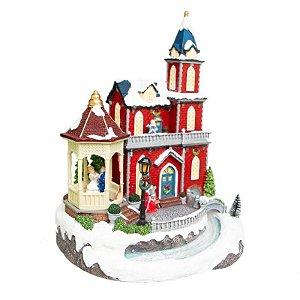 Vila de Natal com com Casal Dançando