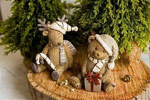 Ursinho e Rena de Natal
