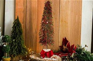 Mini Árvore Decorativa com Laço Vermelho