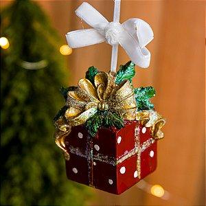 Enfeite Presente de Natal