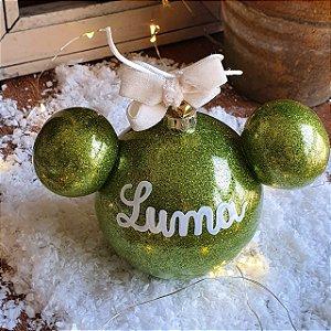 Bola Disney Verde com Glitter