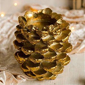 Porta Vela Pinha Dourada (P)