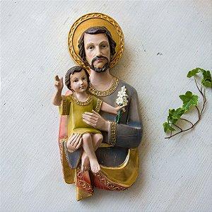 Placa de Parede - São José com Menino Jesus