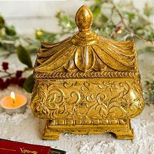 Caixa Porta Jóias Gold