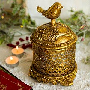 Porta Jóias Pássaro Gold