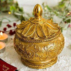 Caixa Flor Porta Jóias Gold