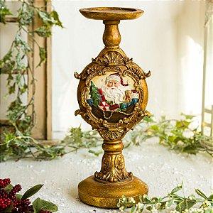 Porta Velas Gold Christmas (G)