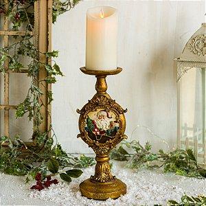 Porta Velas Gold Christmas (P)