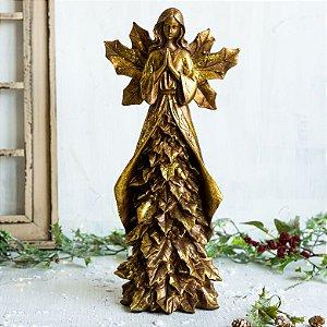 Anjo Manto de Folhas Gold (G)