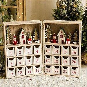 Calendário de Natal Papai Noel e Presentes