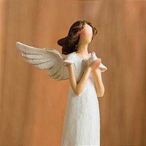 Anjo da Paz com Pássaro Branco