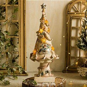 Pinheiro com Papai Noel e Renas (lâmpada com mal contato, OPORTUNIDADE!)