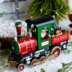 Locomotiva do Papai Noel com Luz e Música