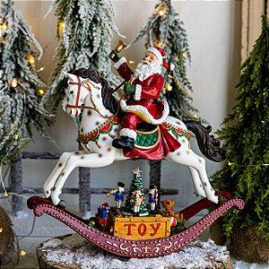 Papai Noel No Cavalo com Música e Presentes