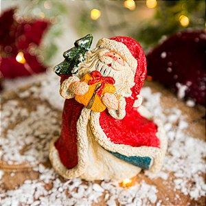 Papai Noel Vintage com Presente
