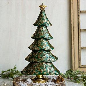 Pinheiro Verde e Dourado de Natal