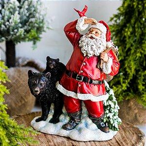 Papai Noel com Presentes e Ursos