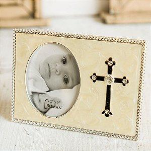 Porta Retrato de Batismo com Cruz