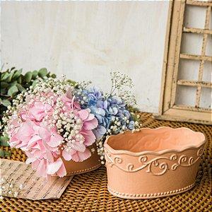 DUPLA de Vaso em Cerâmica Estilo Vintage