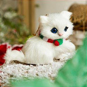 Enfeite Gatinho Branco Para Pendurar