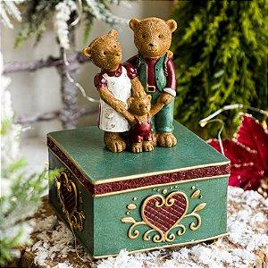 Caixa Musical Família de Ursinhos