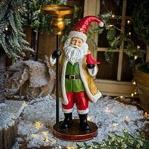Papai Noel com Porta Velas