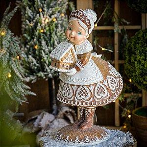 Mamãe Noel Casinha de Doces Gingerbread