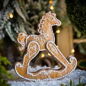Cavalinho de Balanço Doces Gingerbread