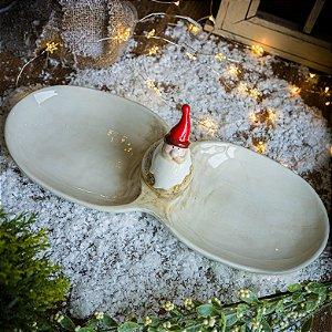 Petisqueira de Louça Papai Noel