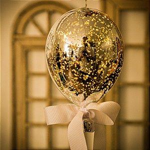 Luminaria Balão Craquelê Prata (G)