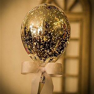Luminaria Balão Craquelê Prata (M)
