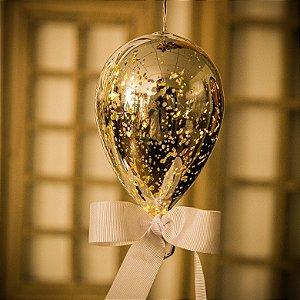 Luminaria Balão Craquelê Prata (P)