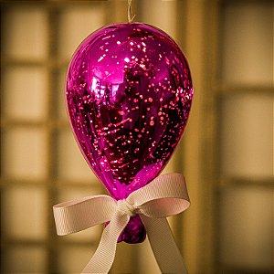 Luminaria Balão Craquelê Pink (P)