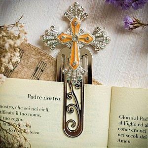 Marcador de Livro Crucifixo Laranja