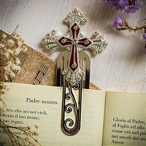 Marcador de Livro Crucifixo Vinho