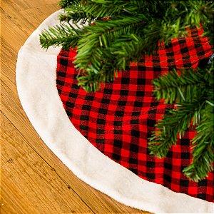 Saia Para Árvore de Natal Xadrez