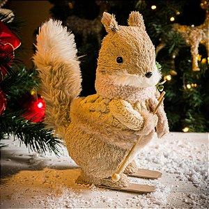 Esquilo Decorativo de Natal