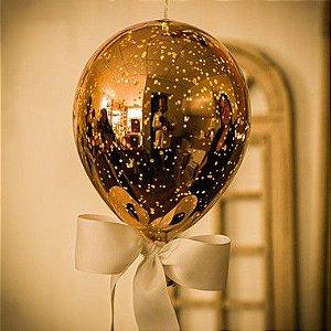 Luminaria Balão Craquelê Ouro (G)