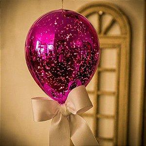 Luminaria Balão Craquelê Pink (G)