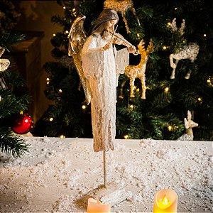 Anjo da Paz com Violino e Base