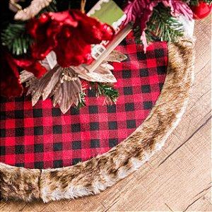 Saia Para Árvore de Natal Xadrez com Barrado Furr