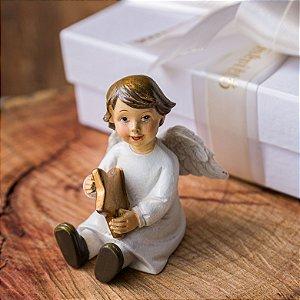 Anjo Sentado com Estrela Personalizado