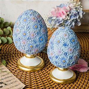 Dupla de Ovos Florais Estilo Pinha Real