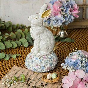 Coelho com Ovo Floral Elegance