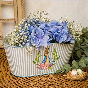Floreira Peter Rabit com Listras Azuis