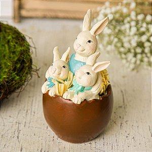 Ovo de Chocolate com Mamãe e Filhotes